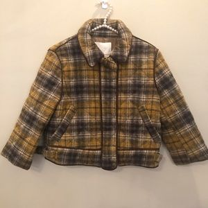 NWT Opening Ceremony Plaid Jacket